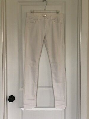 ec98624d485b Mother The Looker Full Length Skinny Jeans White Mirror Mirror Size 26 EUC