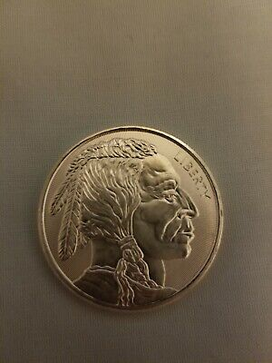 1 oz Buffalo .999 Fine Silver Round with Radial Lines from Elemetal Mint New