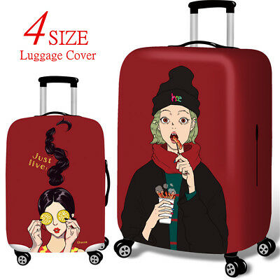 Cool Girls Elastic Dust-Proof Travel Spandex Luggage Cover Suitcase Protector