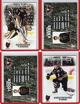 2018/19 Calgary Hitmen {WHL} Team Issued cards -- You pick from list!