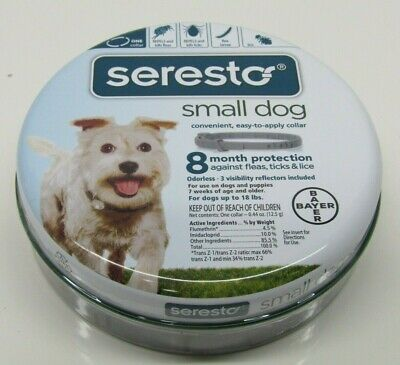 Bayer Seresto Flea and Tick Collar For Small Dogs up to 18 lbs