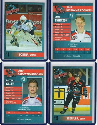 2018/19 Kelowna Rockets {WHL} Team Issued cards -- You pick from list!