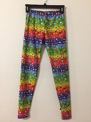Zara Terez Multi-Color Rainbow Emoji Leggings Girl's Size XL New!  NWT!