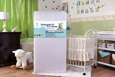 LA Baby 2 in 1 infant Crib Mattress with Medical Grade Cover