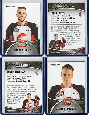 2018/19 Prince George Cougars {WHL} Team Issued cards -- You pick from list!
