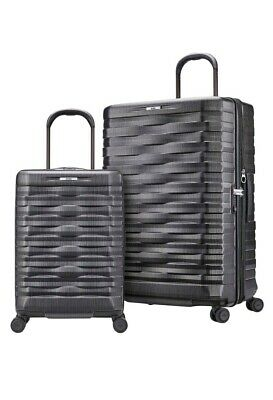 8e4372471 NEW Hartmann Excelsior Gray 2-pc Spinner Suitcase Luggage Set Hardside 29