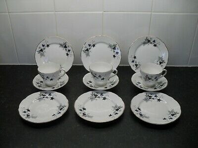 Salisbury English Fine Bone China Tea Set Service Vintage Retro