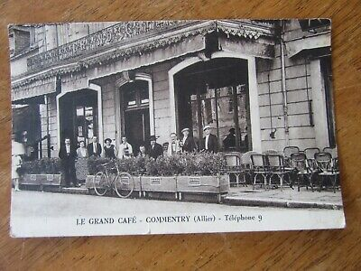 03 Allier Cpa Commentry Le Grand Cafe