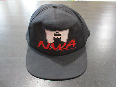 c89985239 VINTAGE NWA SNAP Back Hat Cap Black Red Ruthless Records Rap Tee Hip Hop 90s