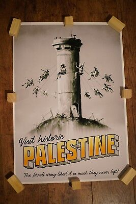 Banksy Wtm Palestine Poster - High Quality Print - Unframed - A2 Reproduction.