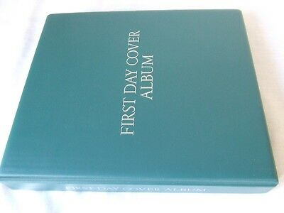 Wh Smiths First Day Covers Luxury Ring Album & Leaves, Excellent Condition