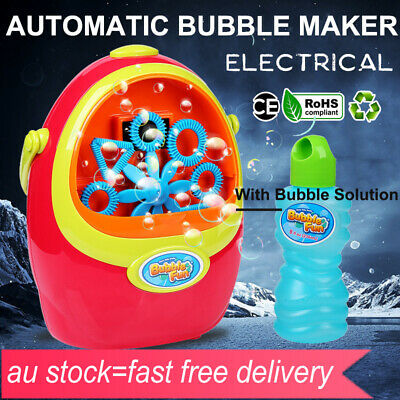 Automatic Durable Bubble Blower Blowing Maker Outdoor Games Party Effect Machine