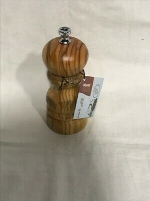 Bisetti Imperia Olive Salt Pepper Mill Brown 9.8