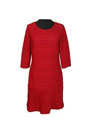 25727d7f74 BETTY BARCLAY Dress Size 16 Red Pleated Bodycon Wedding Party Holiday  Evening