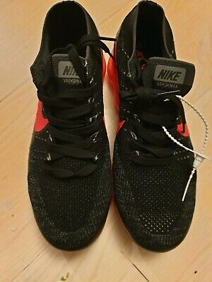 a9b49392e05f8 Rare Nike Air Vapormax FLYKNIT 849558-01 black red Mens shoes size UK8.5