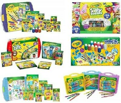 Crayola Colouring Tubs, Cases and Kits - Mega Activity, Silly Scents, Twistables