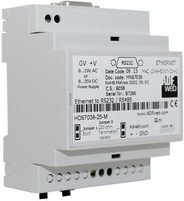 Convertitore Ethernet RS-232 RS-485 Ethernet Wachendorff HD6703825M 24 (gf8)