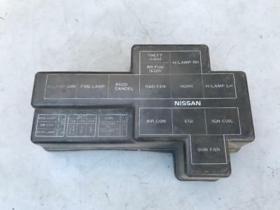 90-91 nissan 300zx z32 oem engine bay fuse box cover