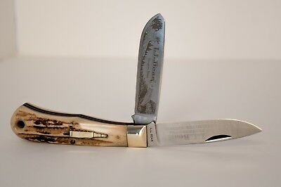Limited Edition L.L. Bean by Bowen Golden Bullet Stag Trapper Knife