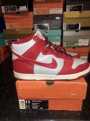 finest selection 5d02b c9625 1999 Nike Dunk High LE ULTRAMAN JAPAN Co.JP SILVER GREY Worn Once 630335-