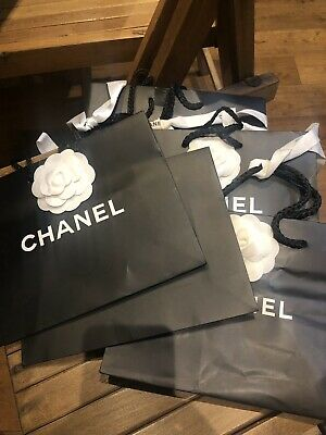 Authentic Small Chanel Bags With Camellia And Ribbons
