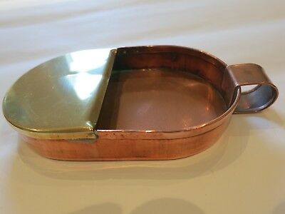 Arts and crafts copper and brass tray