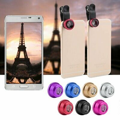 Hot 3 In 1 Clip Camera Lens  Wide Angle Macro Kit For Smart Phone NEW HKU