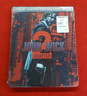 John Wick Chapter 2 Blu Ray Dvd Digital Hd 2 Disc Limited Edition Steelbook