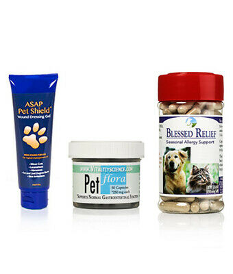 Vitality Science Natural Herbal Allergy Support For Dogs & Cats - Hot Spot Cure