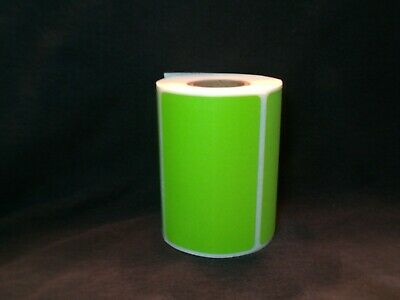4X3 GREEN DIRECT Thermal Color Labels, Roll of 250 - $19 84