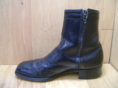 0cc9af242cc57 Men s Dress Boots J C PENNY Sz 8.5 D Black Leather Uppers   Soles Zipper