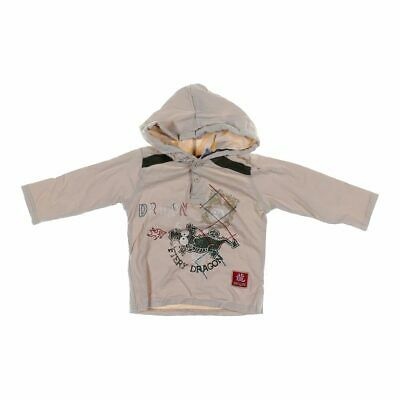 Little Rebels Baby Boys Hoodie, size 18 mo,  beige, green, red,  cotton