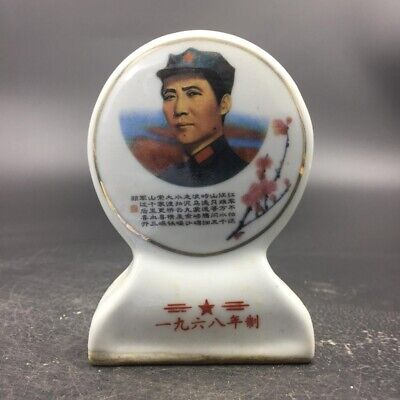 Exquisite Chinese rare hand-painted porcelain Mao Zedong statue.    t359