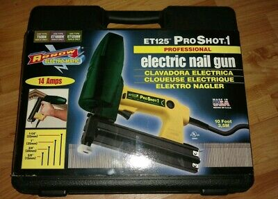 "Arrow ET125 ProShot1 Electric Nail Gun Kit USA for 5/8 thru 1-1/4"" Nails NEW!!"