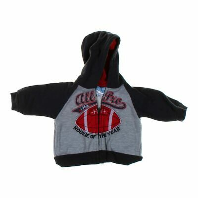 Duck Duck Goose Baby Boys Hoodie, size 6 mo,  black, grey, red,  cotton