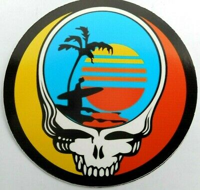 "Grateful Dead Steal Your Face  Endless Summer Decal Sticker 4"" x 4"" Round"