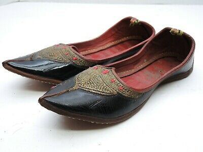 Vintage Antique Traditional Punjabi Jutti Indian Khussa Mojari Jooti Shoes Juti