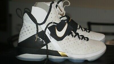 buy online 919dc 90ad7 Nike Lebron 14 XIV BHM Black History Month Black White Champ SZ 9 AUTHENTIC