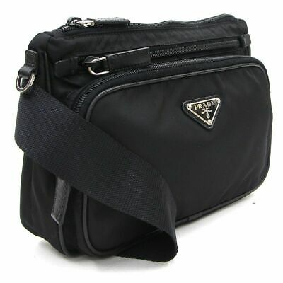 bfb4d87c322882 PRADA TESSUTO SPORTS Fanny Pack Waist Pouch Black Nylon Cross Body ...