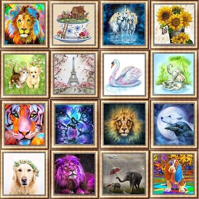 60 Style Animal DIY 5D Diamond Painting Kitten Cross Stitch Kits Home Decor