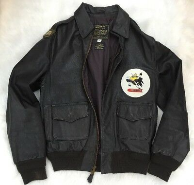 7b9c111b6 RARE ORIGINAL GOATSKIN WWII Bomber jacket worn in WWII. Collector's ...