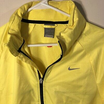 ee8b817b103e Nike Fit Storm Running Jacket Mens Sz M 3M Yellow Reflective Silver Full Zip