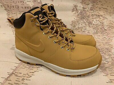 c298a7733d1a57 New Nike Men s Manoa Leather Hiking Boot 454350 700 Haystack Velvet Brown  Sz 12