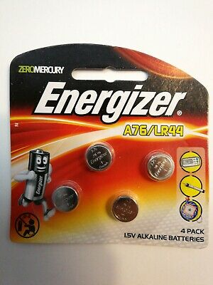 Genuine Energizer A76/LR44 1.5V Alkaline Batteries free postage 4pk battery A76