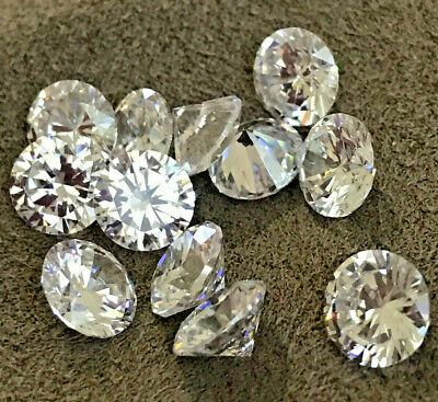 CUBIC ZIRCONIA LOOSE STONES  AAAAA BRILLIANT WHITE   BEST QUALITY  1 mm - 8 mm