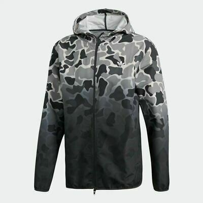 4ce3daffb32a9 Adidas Originals Men's Camo Camouflage Hooded Windbreaker Jacket DH4805  Large SZ