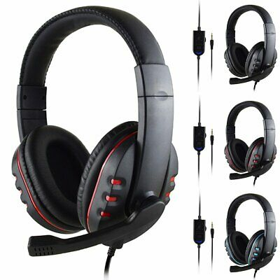 Gaming Headset HD Stereo Mic Wired  Surround Headphone For PS4 Xbox PC Xboxone