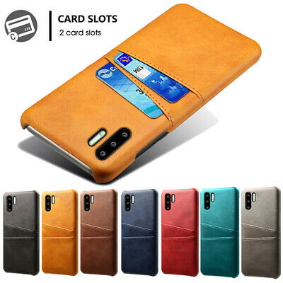 For Huawei P30 Pro P30 Lite Slim PU Leather Credit Card Slots Wallet Case Cover