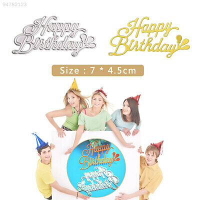 B754 Happy Birthbay Cutting Stencil Cutting Dies DIY Paper Crafts Kids Album