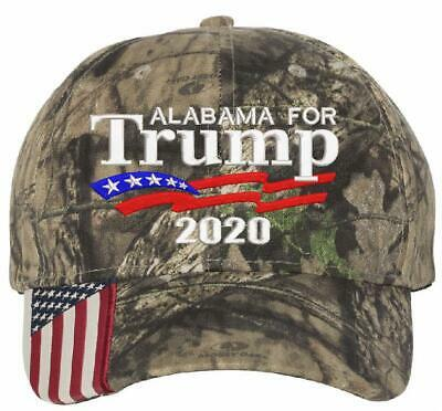 Donald Trump hat ALABAMA FOR TRUMP President 2020 Adjustable Mossy Oak Hat